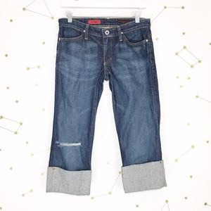 AG • The Shorty Cuffed Capri Skinny Jeans Holes 27